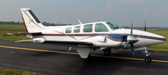Beechcraft 58Tc Baron Ready for Take Off